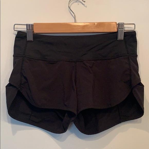 Black gym shorts. LULULEMON
